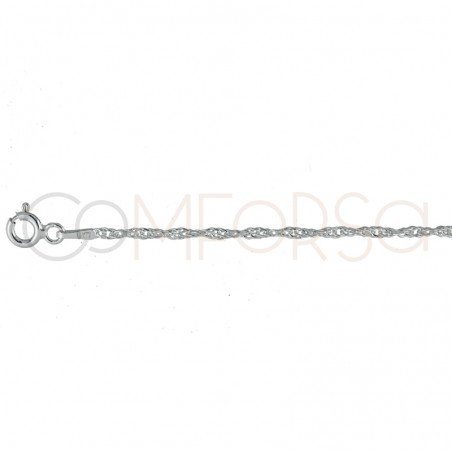 singapore chain2.2 mm sterling silver gold plated