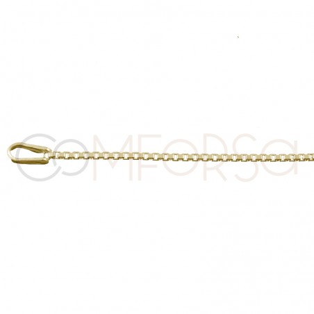 Thin box chain 1.2 mm sterling silver gold plated