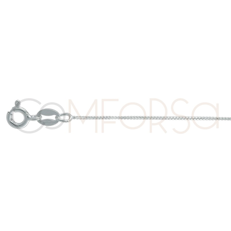 Sterling silver 925 thin box chain 0.7 mm