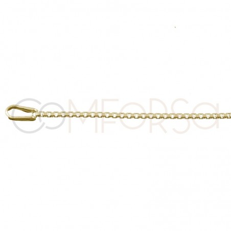 Gold plated sterling silver thin box chain 1.2 mm