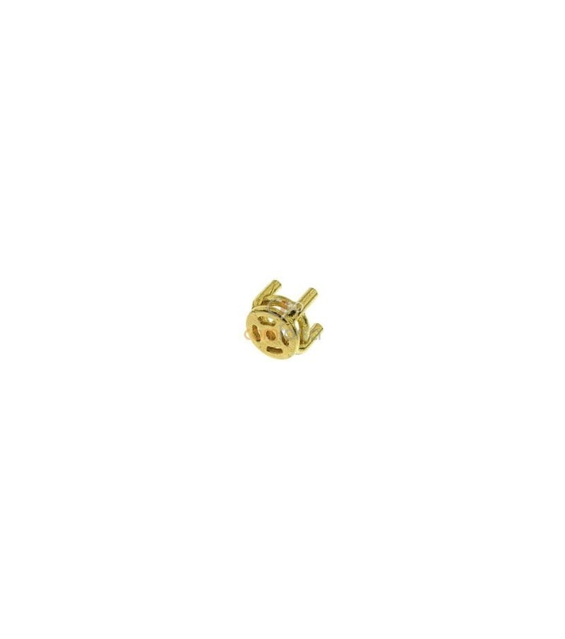 18kt Yellow gold round settings (2.5 mm)