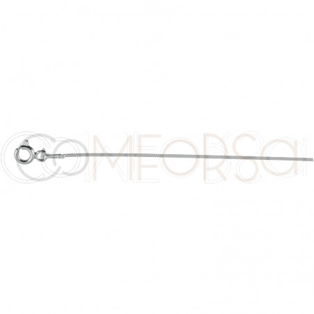 Sterling silver 925 squared snake chain 1.3 mm