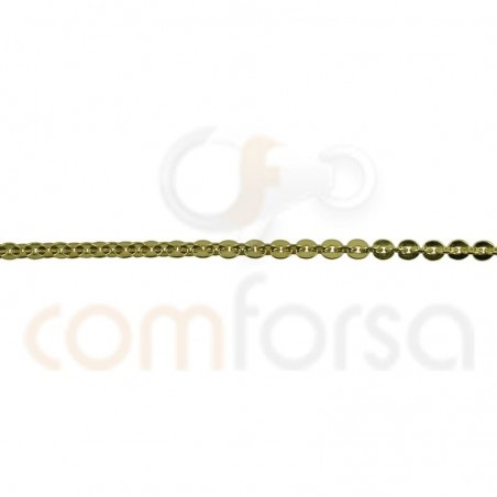 Sterling silver hammered chain 1.9 x 1.65