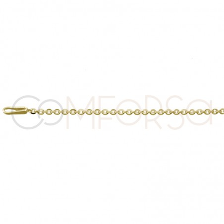 Sterling silver 925 forçat chain 35 cm with 6 cm extender