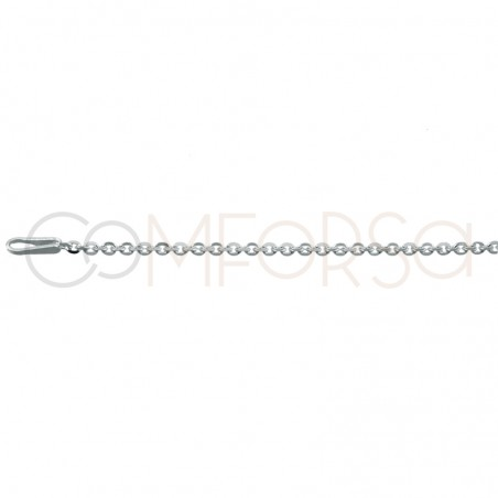 Rose gold plated Sterling silver 925ml forçat chain 35 cm with 6 cm extender