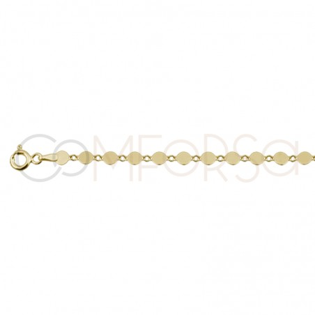 Sterling silver gold plated 35 + 5 cm pendants chain