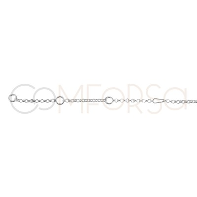 Sterling Silver 925 Chain 40 cm with extender 6 cm