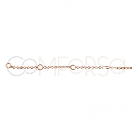 Rose Gold Plated Sterling Silver 925 Chain 40 cm with extender 6 cm