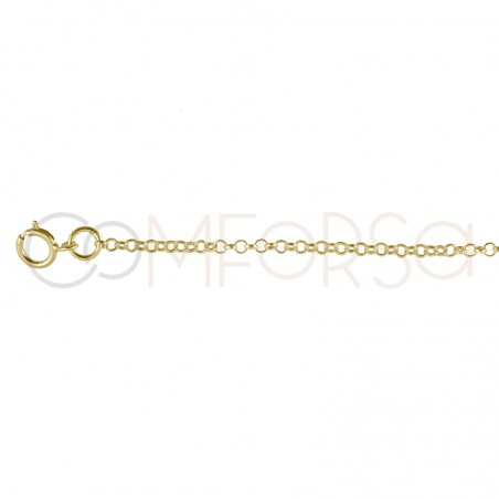 Rhodium plated Sterling Silver 925 Chain 40 cm with extender 6 cm