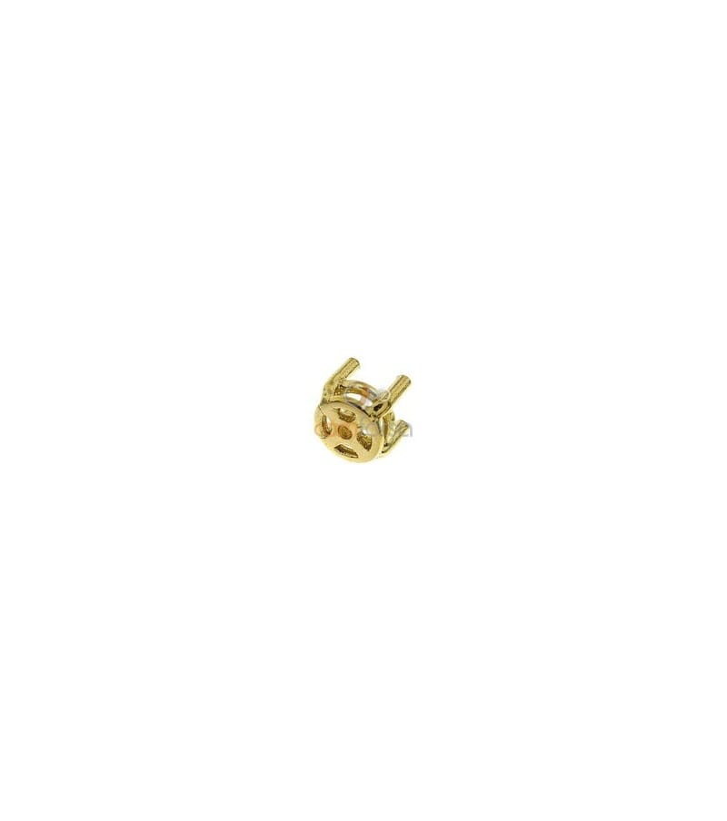 18kt Yellow gold round settings (3 mm)