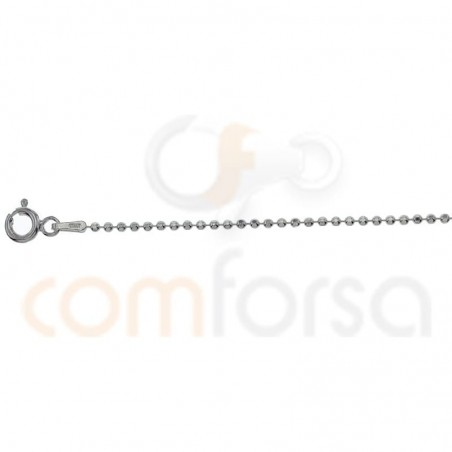 Gold plated Sterling silver 925ml faceted 1.5 ball chain