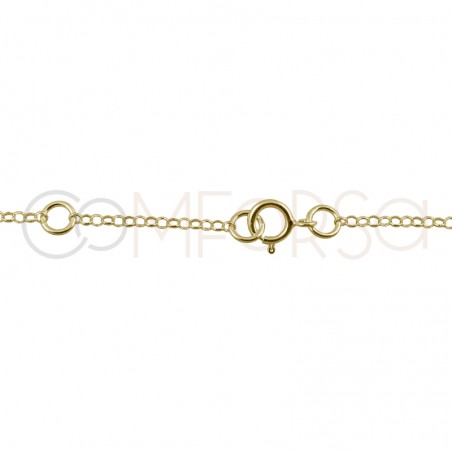 Sterling silver 925 triple rolo chain with extender 6cm