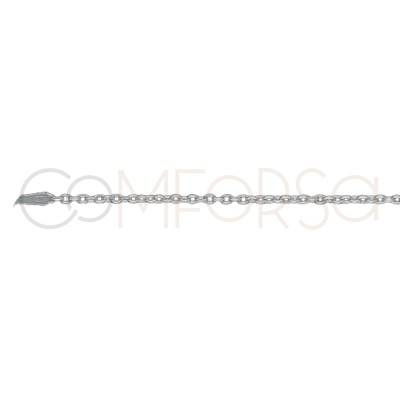 Sterling silver 925 forçat chain 1.9 x 1.6 mm