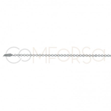 Sterling silver 925 rolo chain 1mm