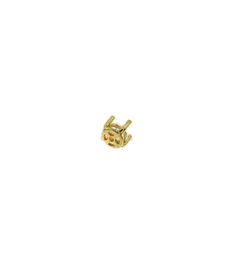 18kt Yellow gold round settings (4 mm)