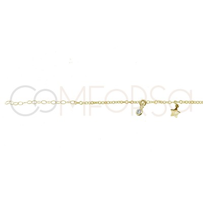 Sterling silver 925 gold...