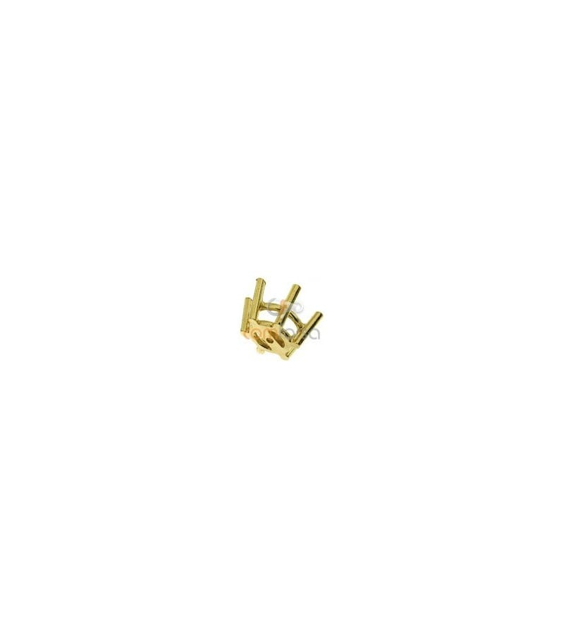 18kt Yellow gold settings 6 prong (7 mm)