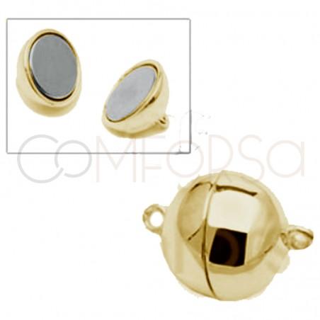 Broche bola con imán 6 mm plata chapada oro