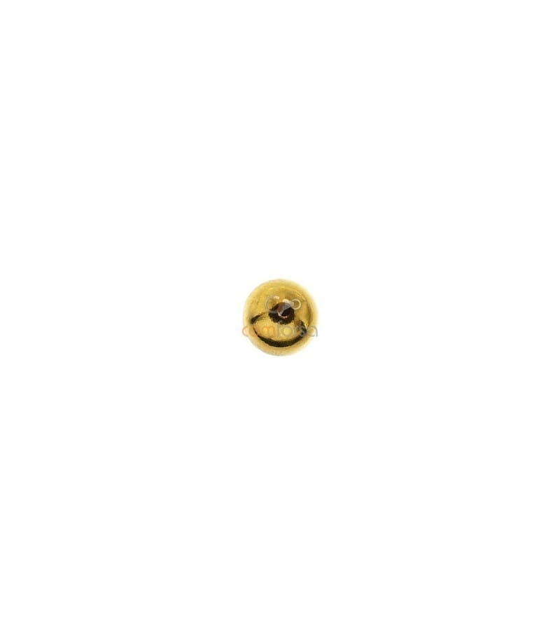18kt Yellow gold round bead  5 mm