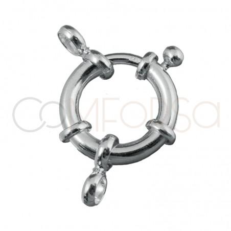 Reasón con anillas 14mm plata 925