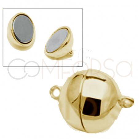 Broche bola c/imán 8 mm plata chapada oro