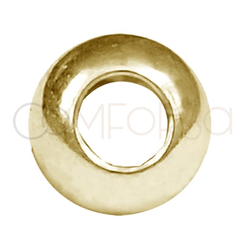 Bola 4 mm ( 1.8 int ) plata 925 chapada en oro