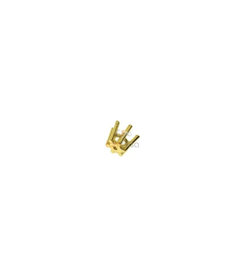 18kt Yellow gold settings 6 prong (4 mm)