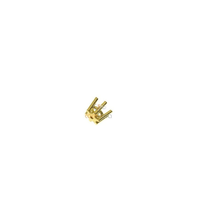 18kt Yellow gold settings 6 prong (4.2 mm)