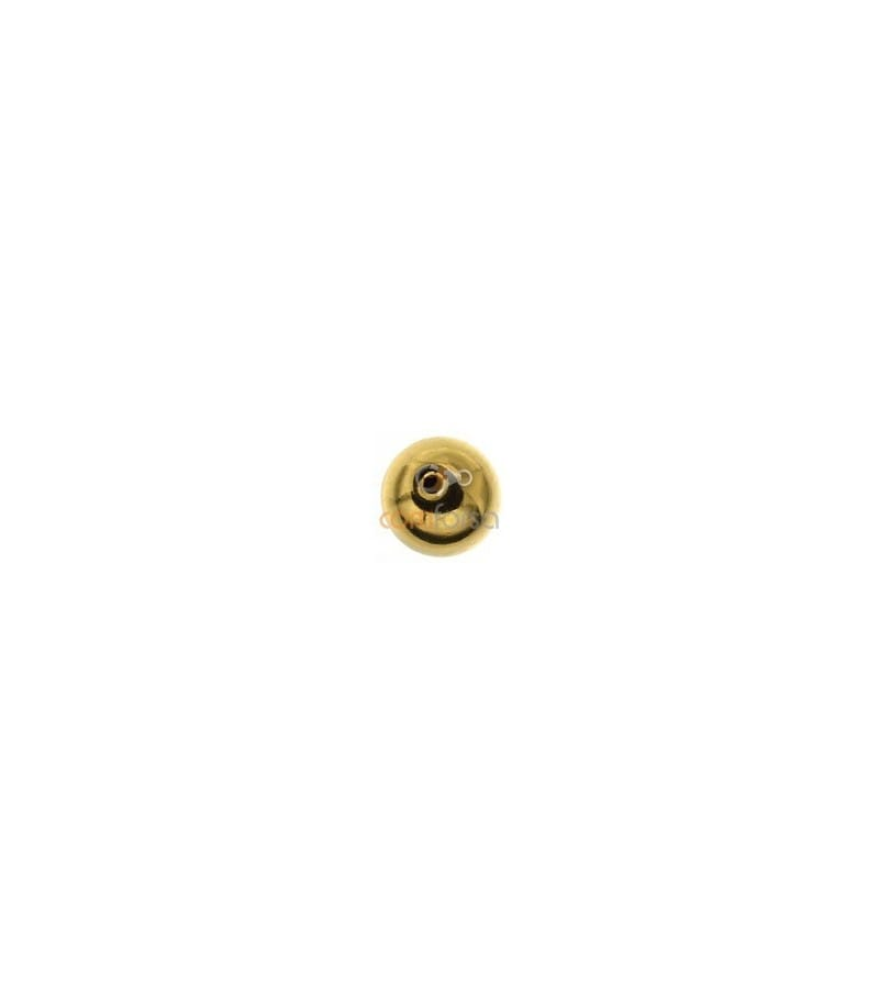 18kt Yellow gold round bead  6 mm