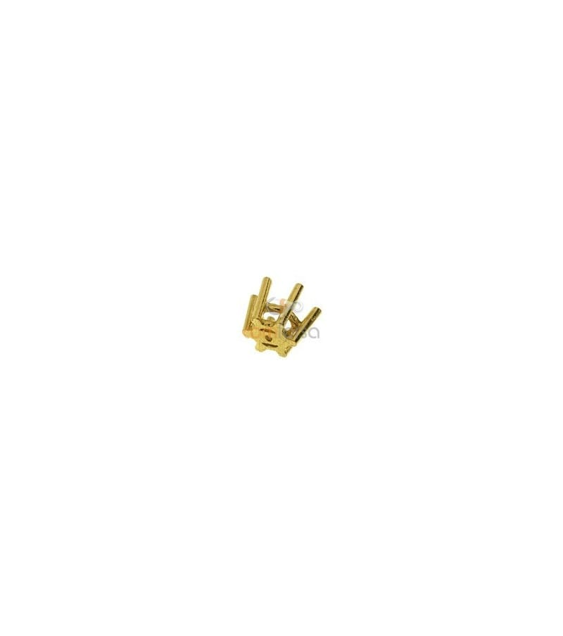 18kt Yellow gold settings 6 prong (4.5 mm)