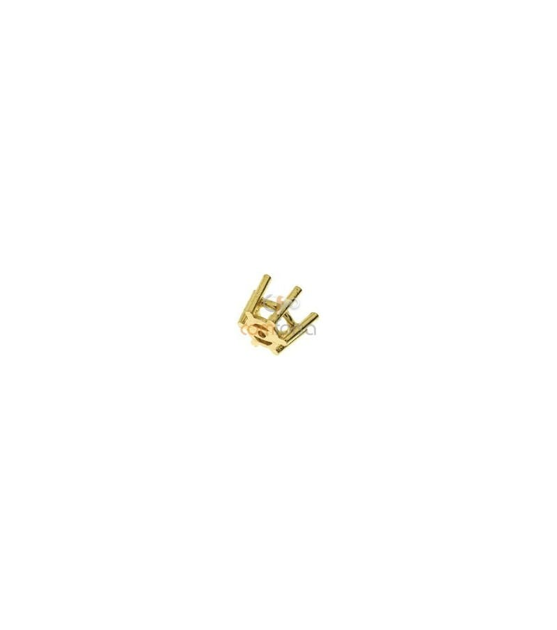 18kt Yellow gold settings 6 prong (5 mm)