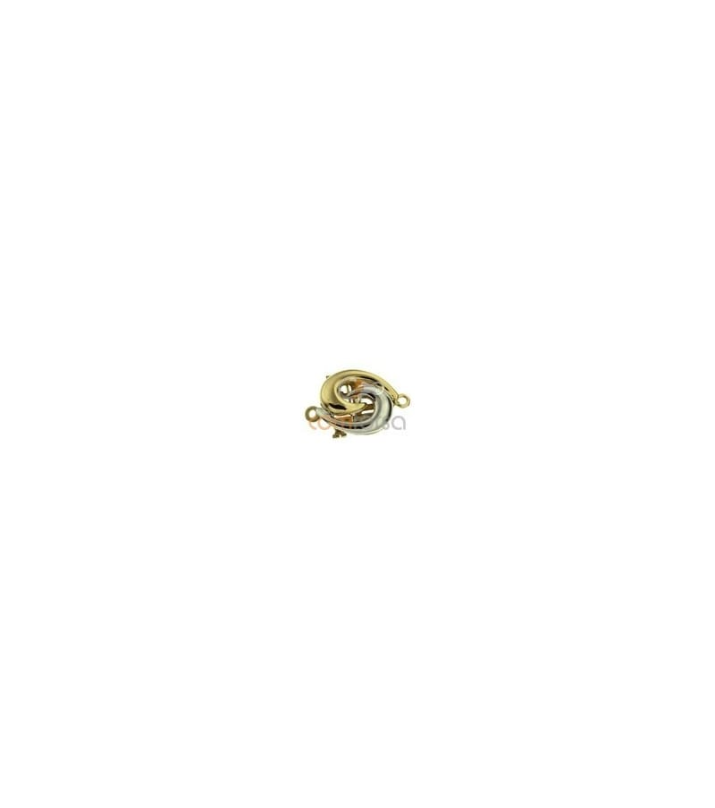 18kt Yellow gold and White gold gold clasps