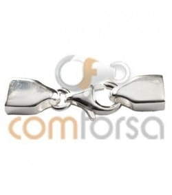 Sterling Silver 925 Lobster Clasp with end caps 2.5 x 5 mm