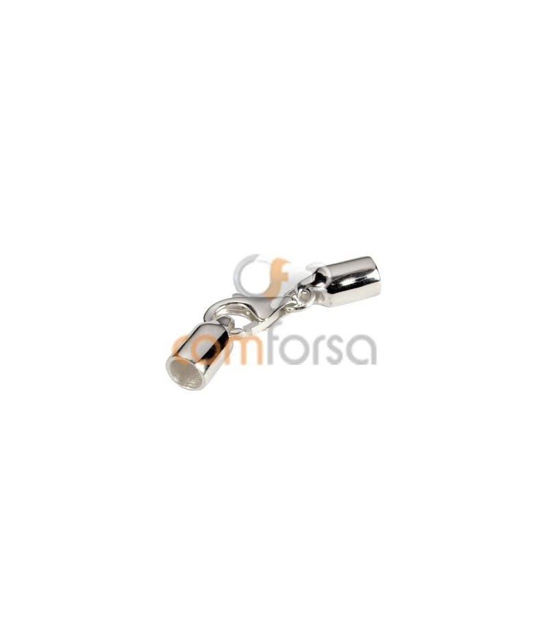 Sterling Silver 925 Lobster Clasp with Round Cap 4mm