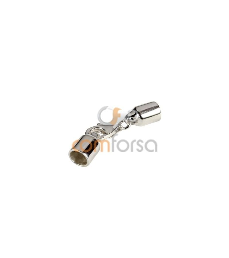 Sterling Silver 925 Lobster Clasp with Round Cap 5mm