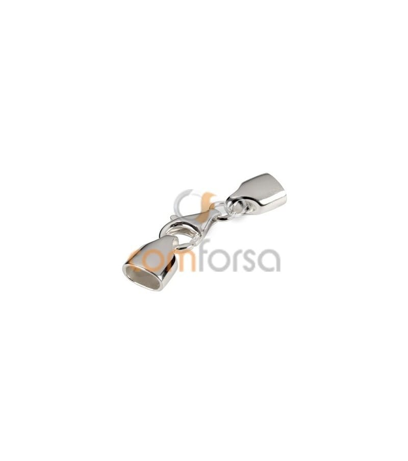 Sterling silver 925 lobster clasp with oval caps 6 x 3mm