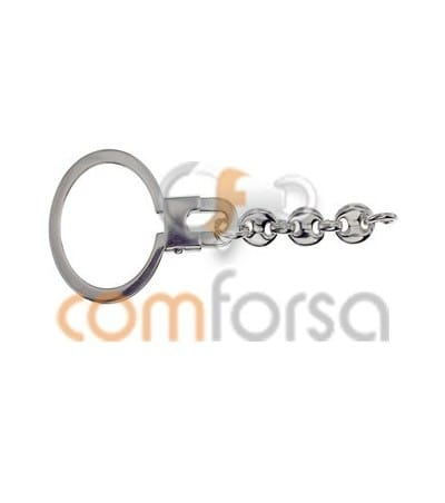 Lira con cadena 26 x 73mm plata 925ml