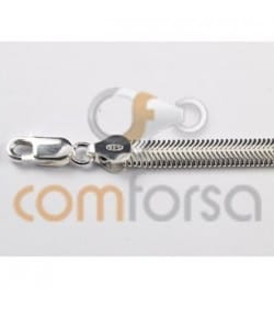 Cadena cobra 6 mm plata 925ml