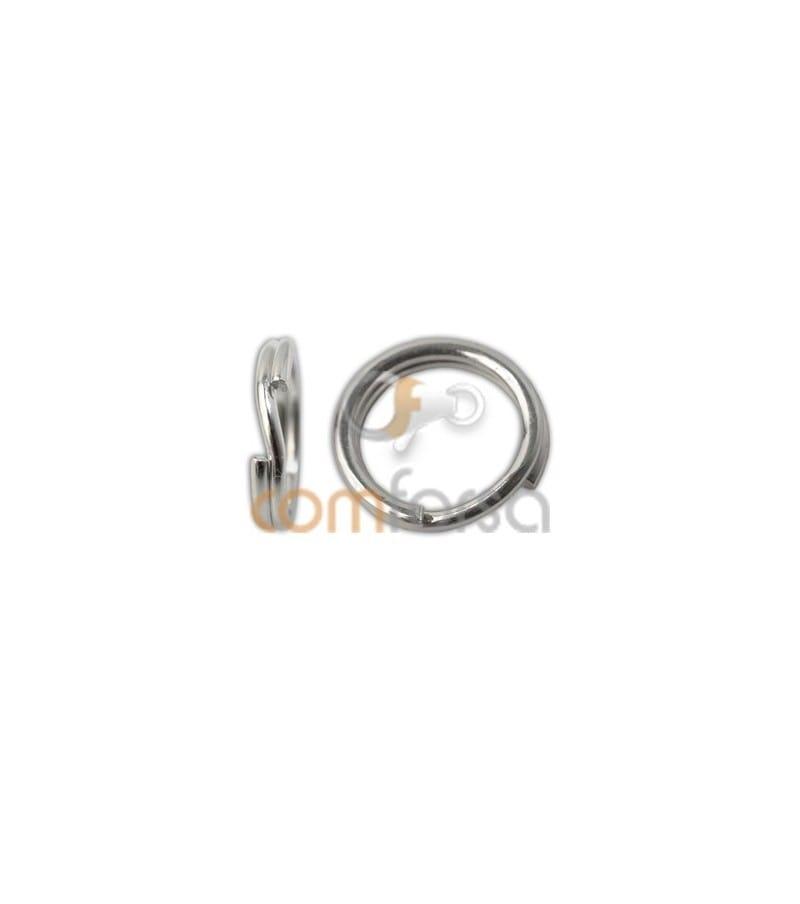Sterling silver 925 reinforced key ring 5 mm