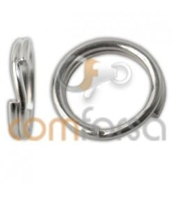 Sterling silver 925 reinforced key ring 5 mm