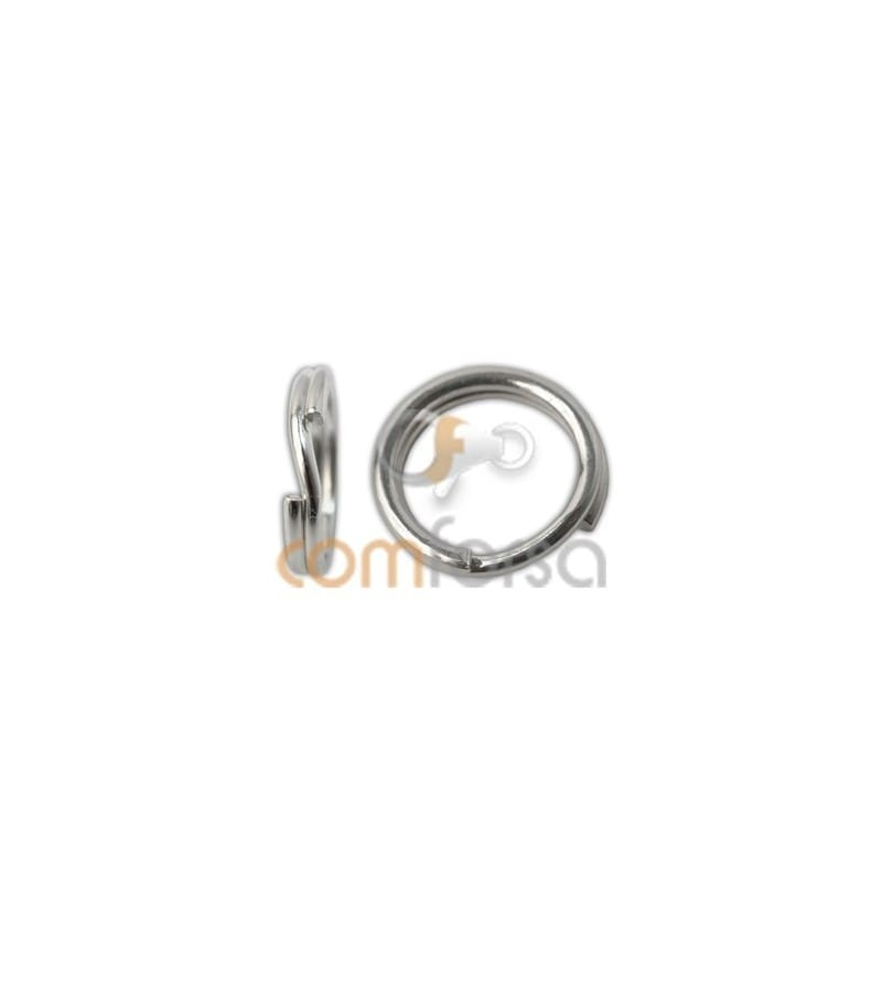 Sterling silver 925 reinforced key ring 6 mm