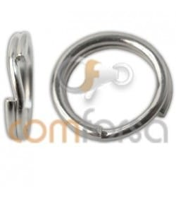 Sterling silver 925 Split ring 7 mm extra weight