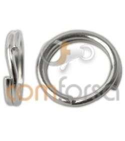 Sterling silver 925 reinforced key ring 9 mm