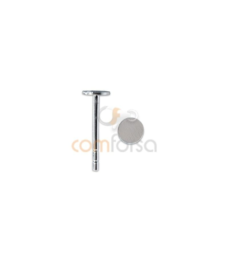 Sterling silver 925 Ear posts with flat Cap 4 mm