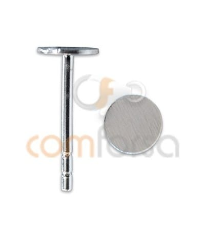 Sterling silver 925 Ear posts with flat Cap 5 mm