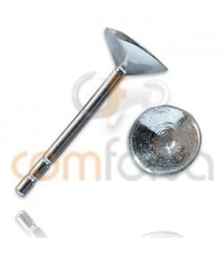 Sterling silver 925 Ear posts with cone cap 5 mm