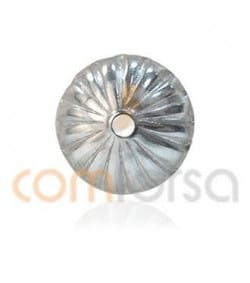 Sterling silver 925 Cap Corrugated 5 mm