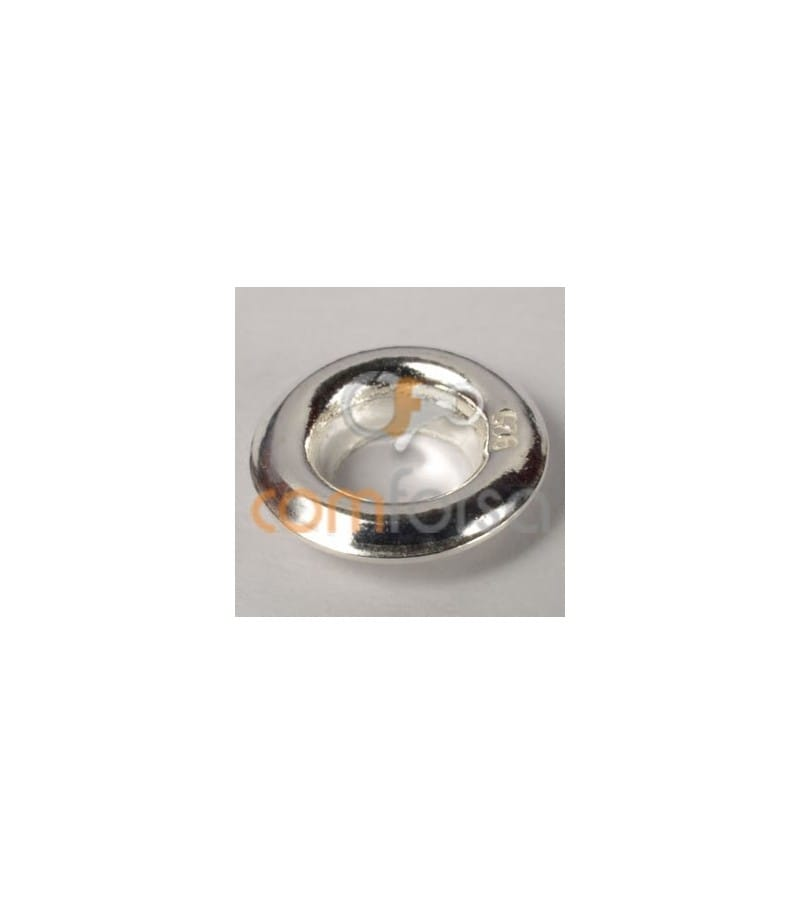 Sterling silver 925 Stopper for fimo 9 mm