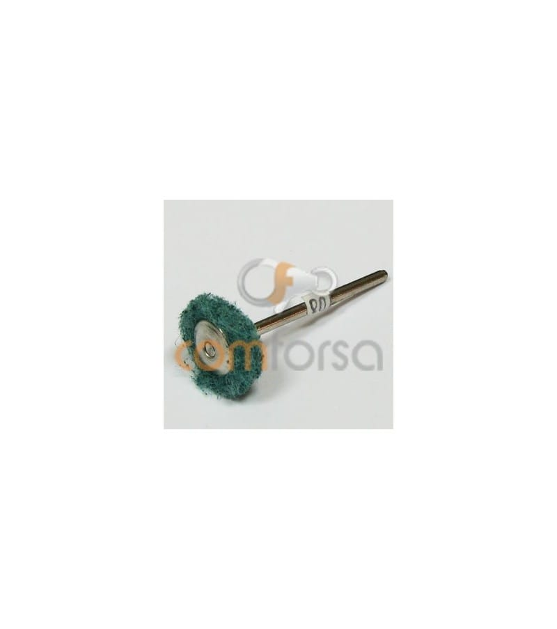 Scouring pad wheels