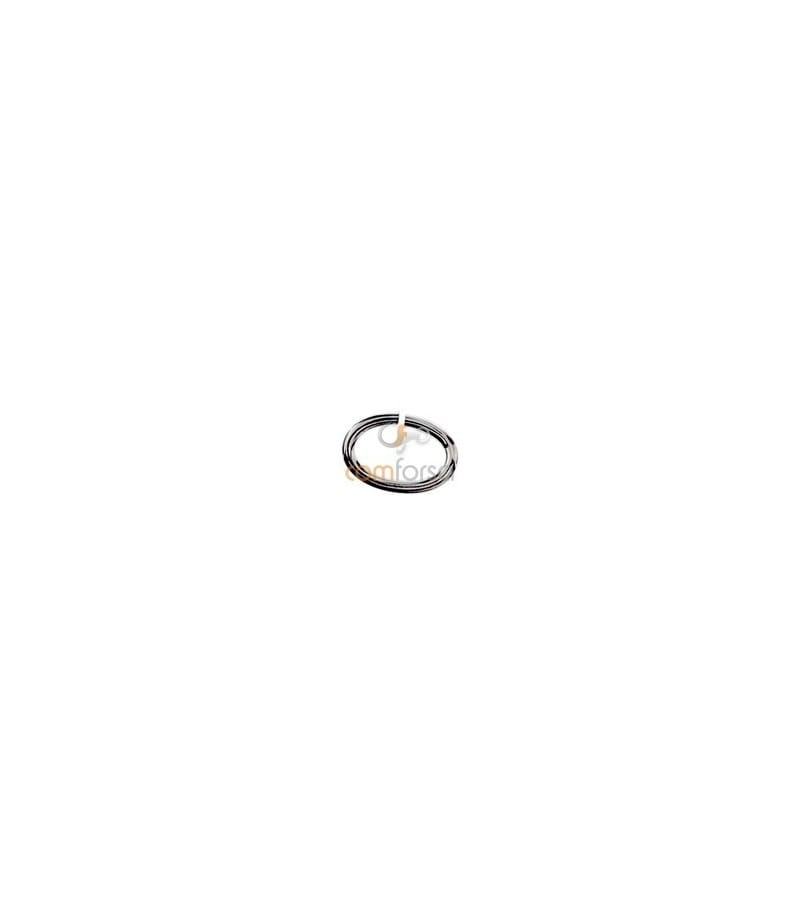 Sterling silver 925 Oval open jumpring 4 x 6